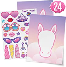 xo, Fetti Unicorn Party Sticker Craft Game for Kids - 24 Sheets   Birthday Party Supplies, Unicorn Favors Decorations, Toys + Halloween Costume