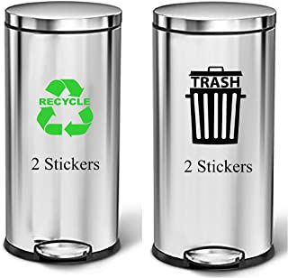 Transparent Recycle bin Trash bin Recycle Can Trash Can Transparent Vinyl Stickers Indoor Outdoor Use