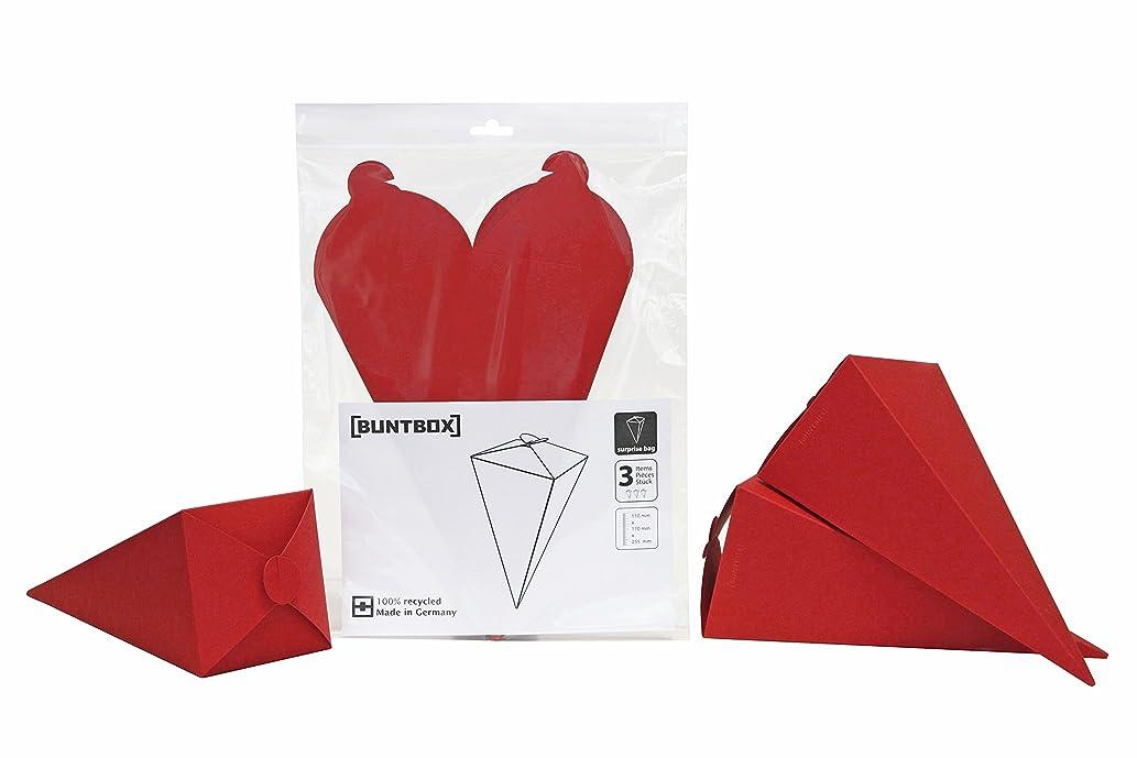 Coloured Box 286?überraschungstüte 17?Surprise Bag Set, Set of 3?Ruby