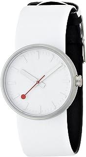 Mondaine - A6583030616SBA - Reloj analógico de Cuarzo para Mujer, Correa de Cuero Color Blanco
