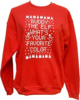 Strong Girl Clothing Buddy The Elf What's Your Favorite Color Sweatshirt Unisex Crew