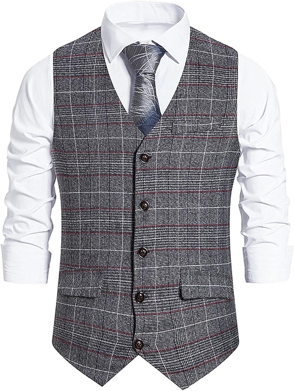 Men's Big & Tall Suit Vests,Wedding Tuxedo Vest for Men Shawl Collar Slim Dress Vest Vest Mens Party Casual Vests