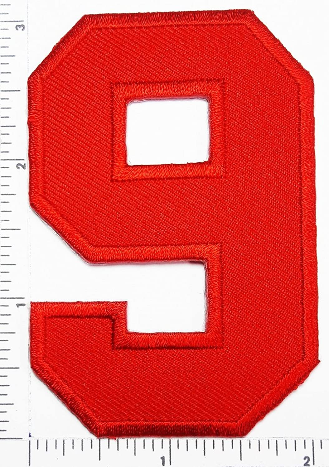 Red Number 9 Patch Number eight counting logo Letter school symbol counting logo jacket T-Shirt patch iron on patch