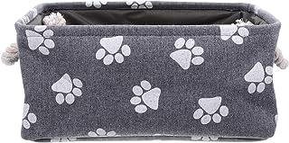 VILLCASE Panier de rangement en toile avec poignée pour jouets et jouets - Différentes boîtes de rangement - 35 x 25 x 17 cm