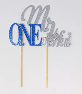 All About Details Mr. ONEderful Cake Topper, 1pc, 1st Birthday Cake topper, Wonderful One Cake Topper Multi