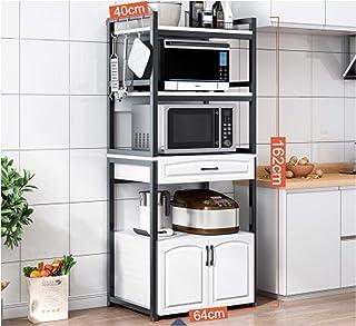Étagère de sol multicouche pour four à micro-ondes pour mettre la vaisselle, armoires de rangement, fournitures de cuisin...