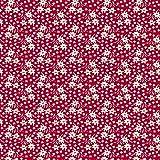 Hans-Textil-Shop Stoff Meterware Blumenmuster Amelie