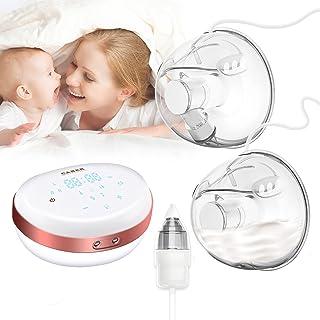 Sacaleches Eléctrico, Extractor de leche eléctrico doble, extractor de lactancia manos libres con aspirador nasal para beb...