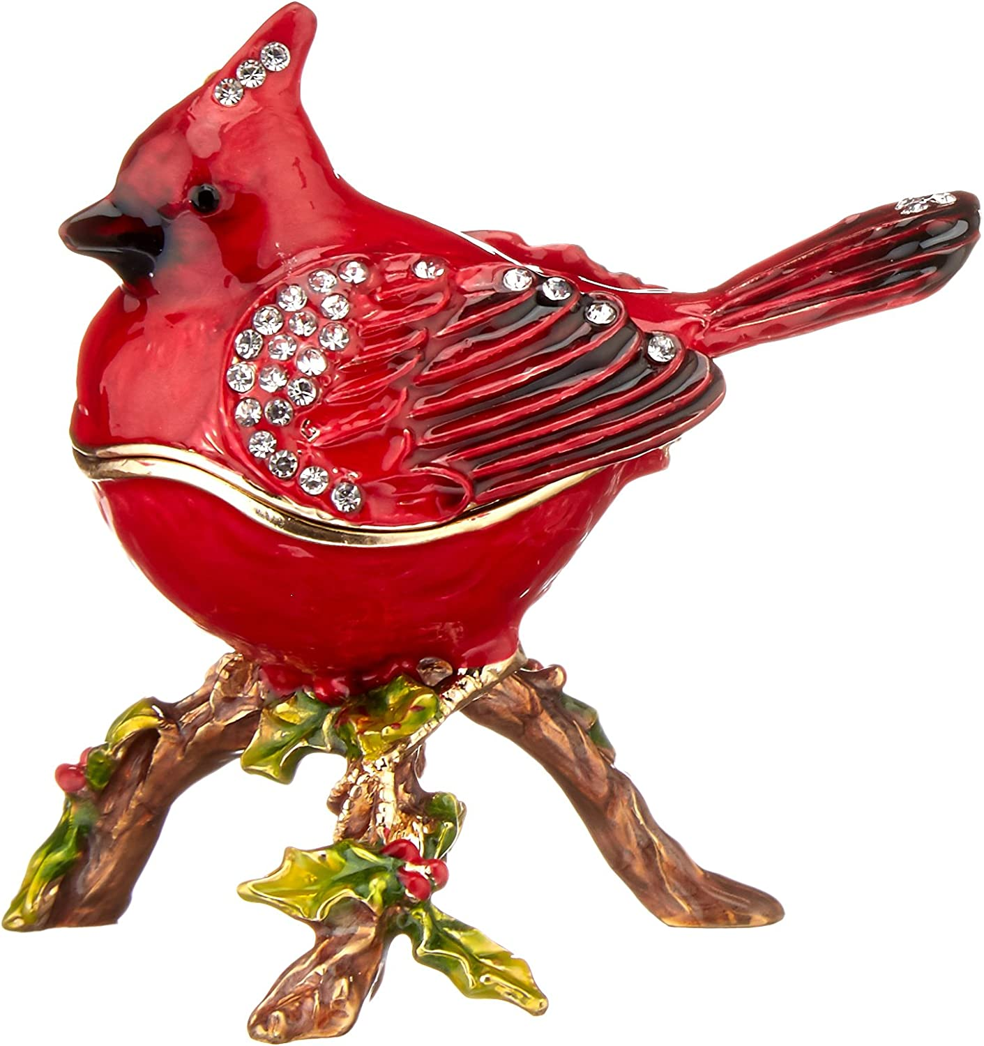 Ciel Collectables 1013398A Cardinal Bird on Now free shipping w Fixed price for sale Box Trinket Branch
