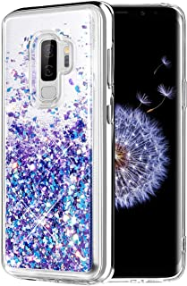 Caka Galaxy S9 Plus Case, Galaxy S9 Plus Glitter Case Liquid Series Luxury Fashion Bling Flowing Liquid Floating Sparkle Glitter Soft TPU Case for Samsung Galaxy S9 Plus (Blue Purple)
