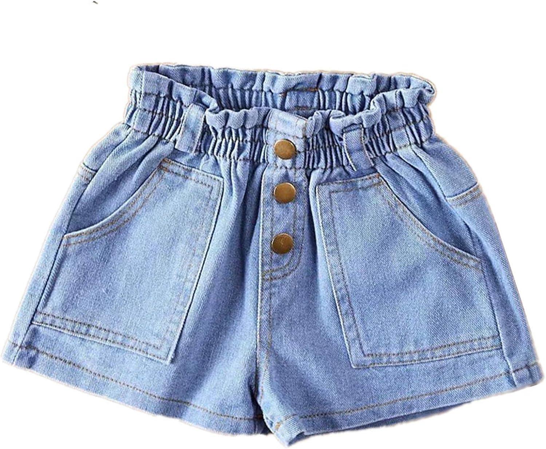 Moru Toddler Oakland Mall Baby Girls Casual High Waisted New life Summer Denim Shorts