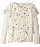 Stella McCartney Kids - Popcorn Ruffled Tulle Overlay Long Sleeve Top (Toddler/Little Kids/Big Kids)