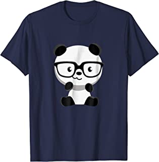 Cute Little Bear Panda Nerd With Glasses T-Shirt