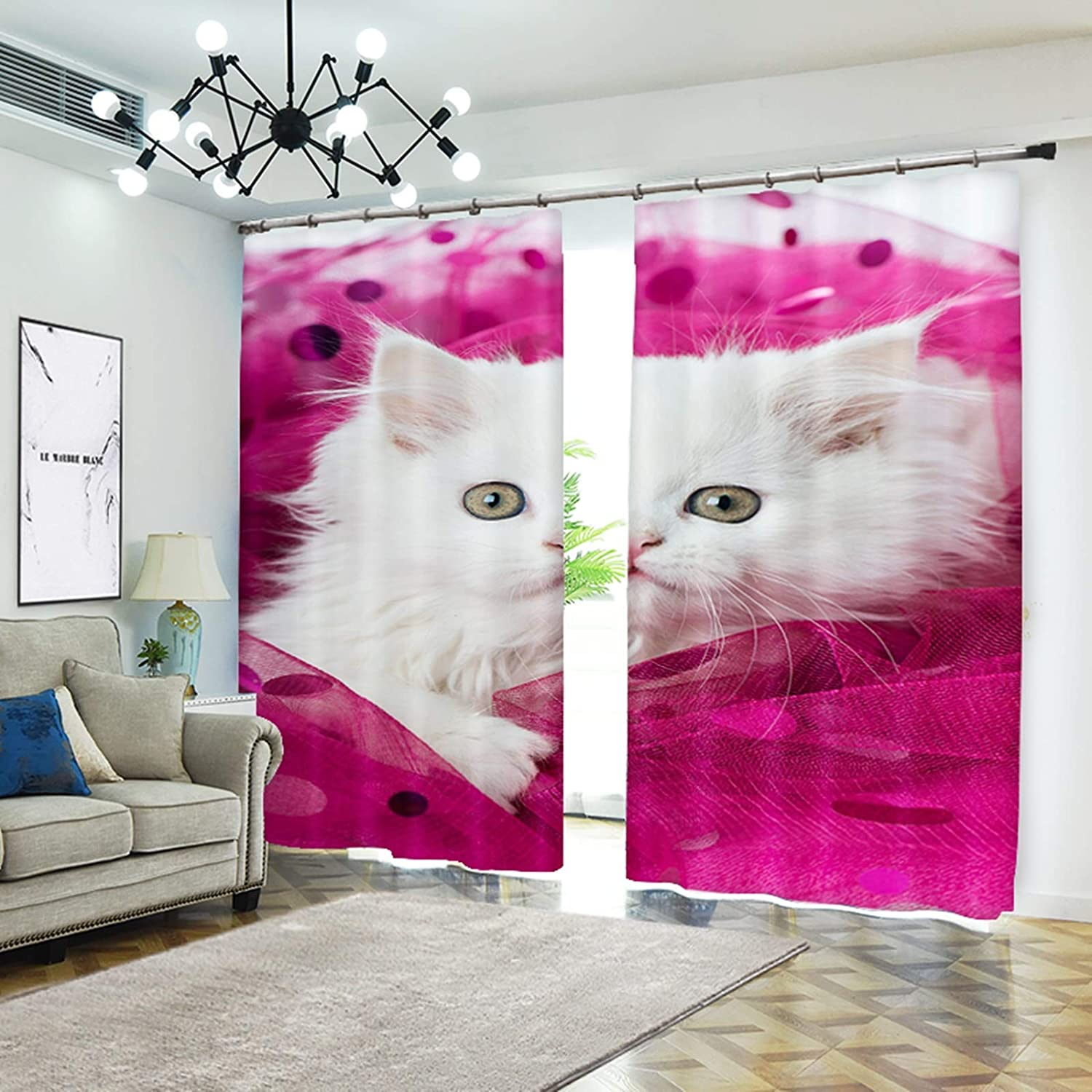 AMDXD 2 Fresno Mall Panels Polyester Curtains Modern Bedroom 5 ☆ very popular Cute