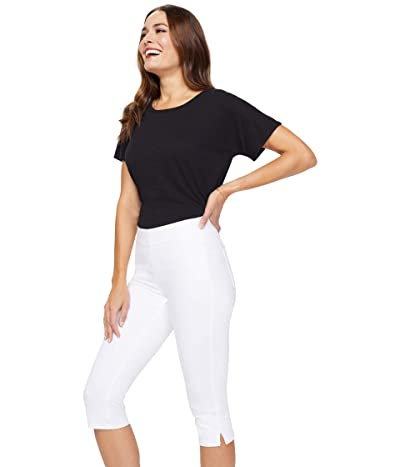 NYDJ Skinny Pull-On Capri Jeans in Optic White (Optic White) Women