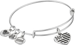 Heart Flag Bangle Bracelet