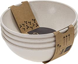 EVO Sustainable Goods Dinnerware Bowl Set, 24 oz, White