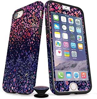 Phone Accessory Bundle for iPhone 7/8 Plus - Screen Protector, iPhone Case, and Cell Phone Grip with Artistic Flowers Design