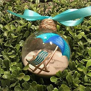 DONL9BAUER Beach Chair Christmas Balls Ornaments for Xmas Tree Sand and Seashell Hanging Ball Shatterproof Christmas Decor...