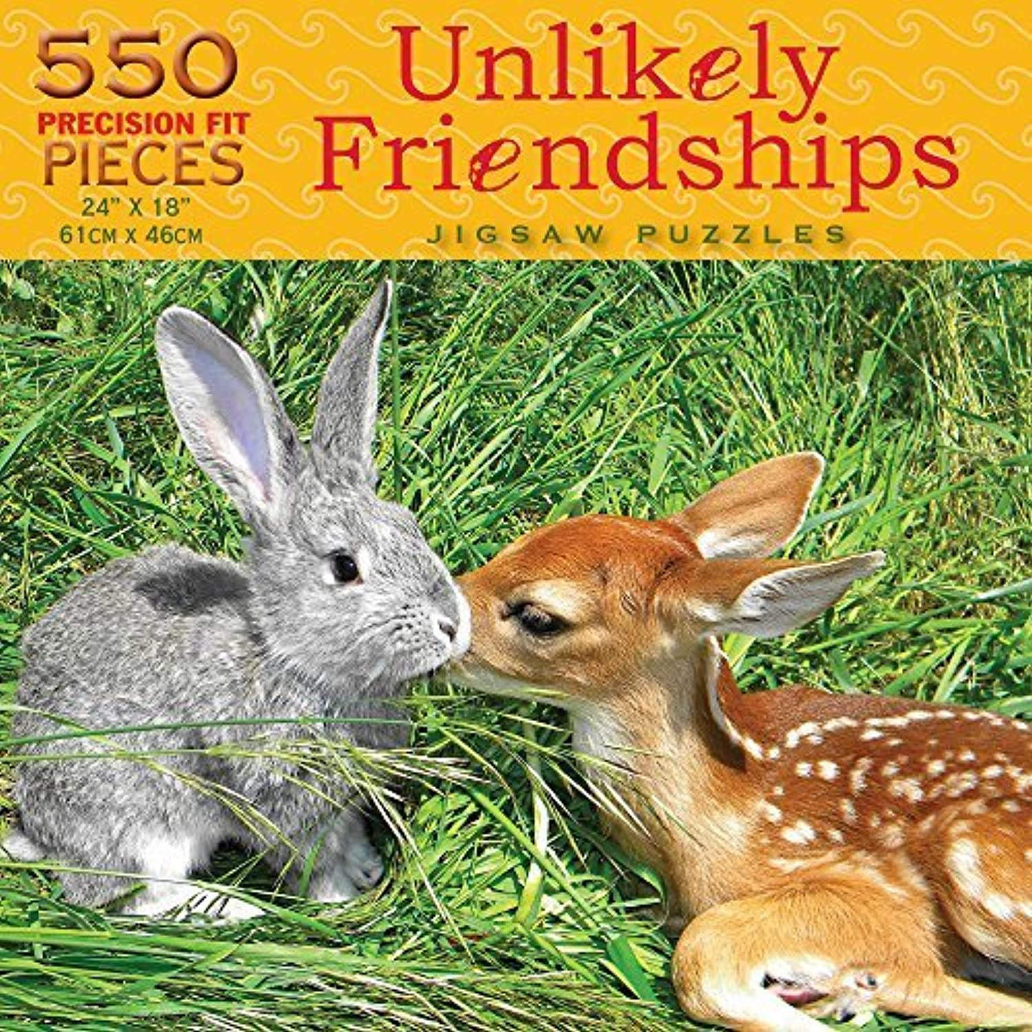 Luvit Puzzles Unlikely Friendships  Animal Attraction Jigsaw Puzzle (550 Piece) by Rejects from Studios