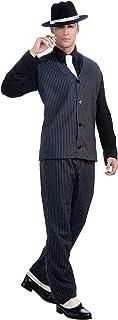 Forum Novelties Men's Roaring 20's Pinstripe Suit Gangster Costume - Black - One Size