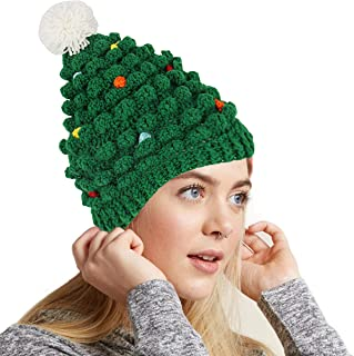 f0ab9576b3e Green Santa Hat for Adults Christmas Beanie Hats Novelty Winter Knitted  Cotton Crochet Hat G008