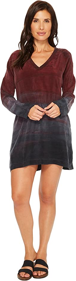 Hard Tail - Relaxed Long Sleeve V-Neck Dress