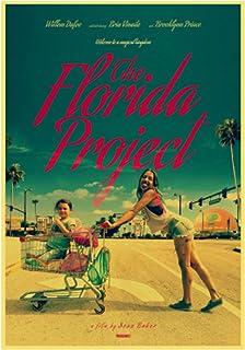 ホームウォールアートデコレーション絵画ポスターアメリカのドラマ映画フロリダプロジェクトハイキャンバス絵画ポスター-50x75cmフレームなし