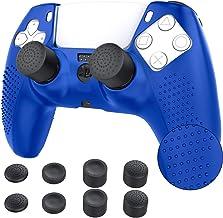 TiMOVO Capa para controle PS5, capa protetora de silicone com 8 tampas de aderência para o polegar antiderrapante, antiarr...