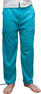 Pantaloni estivi in vita elasticizzati, in cotone, prodotti eticamente - realizzati in Ecuador per Tumi, materiale leggero...