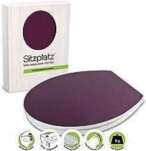 SITZPLATZ WC-bril met softclose, decor Disteso, Gloss toiletbril met houten kern, Fast-Fix snelbevestiging, standaard O-vo...