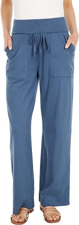 Organic Cotton Fold-Over Lounge Pants