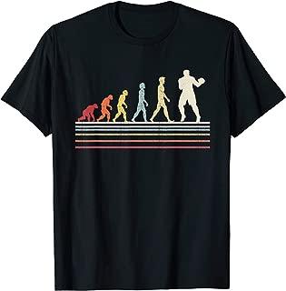Funny Boxing Evolution Of Man Sport Retro Vintage Gift T-Shirt