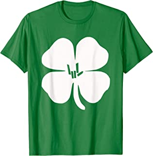 Irish Shamrock a ASL Love Language T Shirt Man Woman and Kid