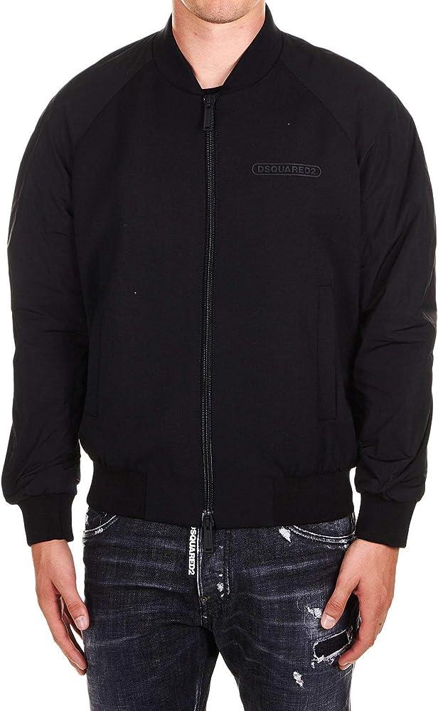 Dsquared2 luxury fashion uomo,giubotto outerwear,giacca blouson,lana 65%, viscosa 32%, elastan 3% S74AM0969S36258900