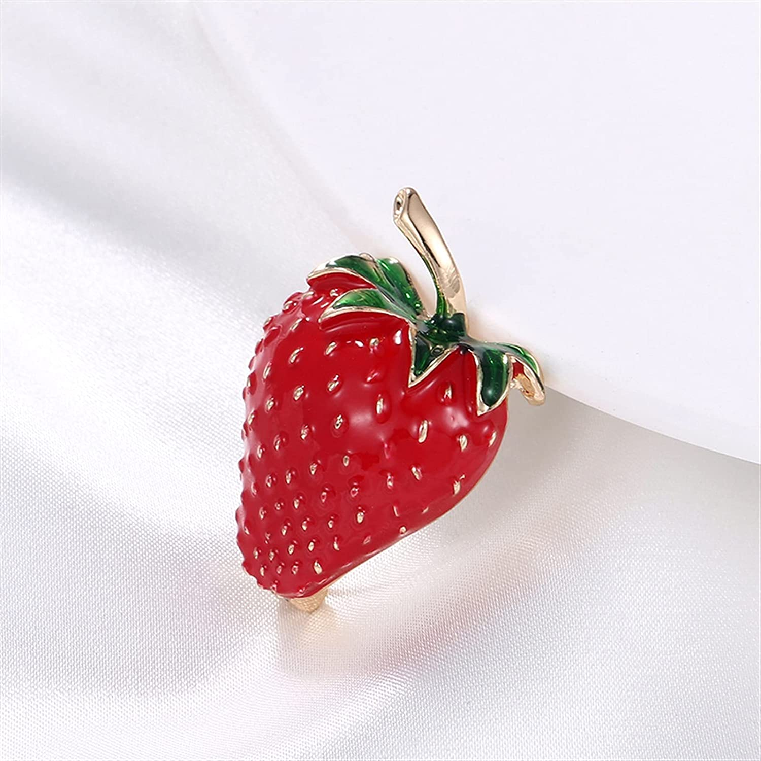 JIANCHEN Delicate Red Enameled Very popular Metal Super Special SALE held Brooch Pins Strawberry Dres