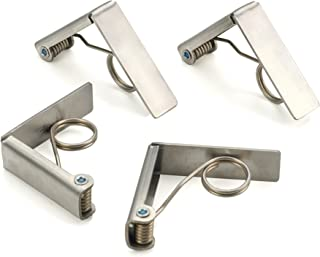 RSVP International  Endurance Stainless Steel Tablecloth Clips, Set of 4,Silver,1 pack