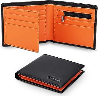 TEEHON® Portafoglio Uomo Slim Piccolo Vera Pelle RFID Blocco Con 11 Portacarte, 2 Scomparti Per Banconote, Tasca Portamone...