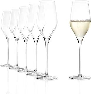 Stölzle Lausitz Exquisit Royal Champagnerkelche 265ml I Edle Champagnergläser 6er Set I Schaumweingläser 6 St. spülmaschinenfest & bruchsicher I hochwertiges Kristallglas