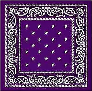 Dark Purple Cotton Bandana Paisley For Unisex