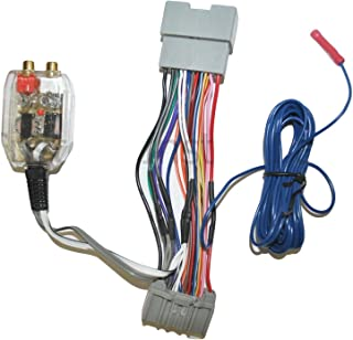 Factory Radio Add A Amp Amplifier Sub Interface Wire Harness Inline Converter Compatible with Chrysler Dodge Jeep - Select...