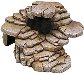 Penn-Plax Reptology Shale Step Ledge for Aquariums & Terrariums, Adds Hiding Spots, Swim Throughs, Basking Ledges for Fish, Reptiles, Amphibians, and Small Animals