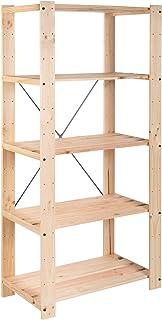 ASTIGARRAGA KIT LINE Estantería alistonada de 5 baldas
