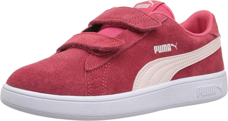 Amazon.com: PUMA Girls' Smash V2 Velcro Sneaker, Elderberry-Indigo ...