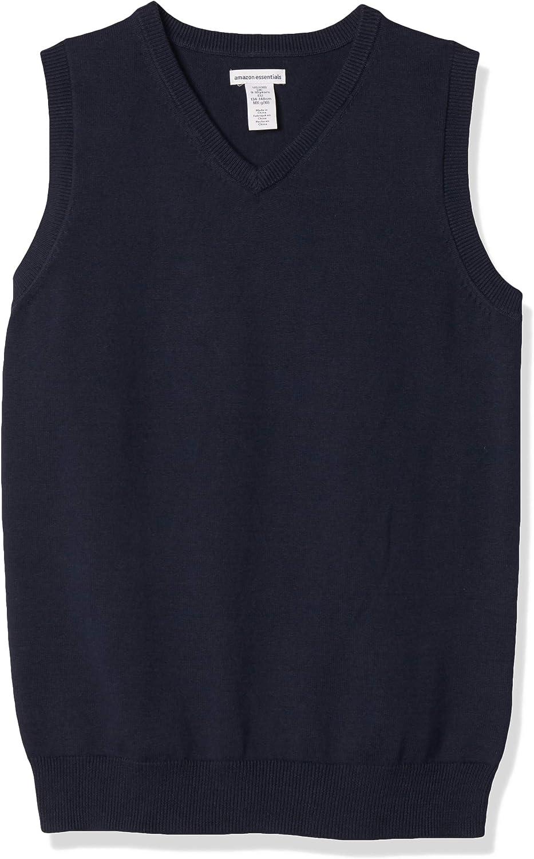 Amazon Essentials Boys' Uniform Cotton V-Neck Sweater Vest