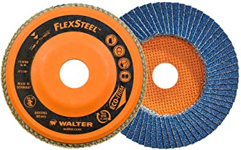 Walter 15W604 FLEXSTEEL Flap Disc [Pack of 10] - 40 Grit, 6 in. Grinding Disc for Angle Grinders. Abrasive Grinding Supplies