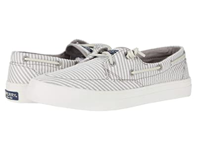 Sperry Crest Boat Seersucker (Grey/White) Women