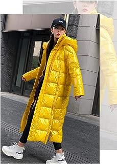 Winter Fashion Women Down Cotton Jacket Glossy Warm Parka X-Long Hooded Thicker Coat Female Full Sleeve Streetwear Outwear