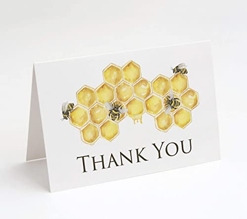 Bumble Bee Thank You Cards, 25 Count (Watercolor Thank You)
