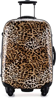 cheetah print carry on luggage